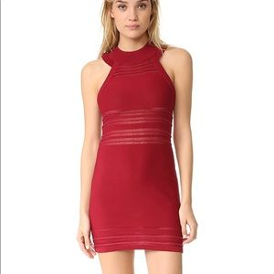 For Love and Lemons red fitted mini dress XS